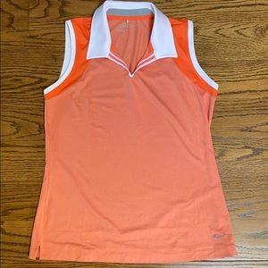 Nike sleeveless golf shirt size M
